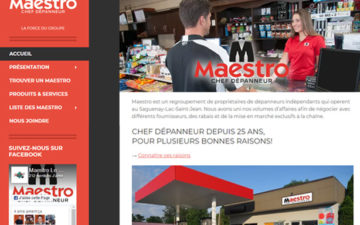 Site Web Maestro Chef Dépanneur