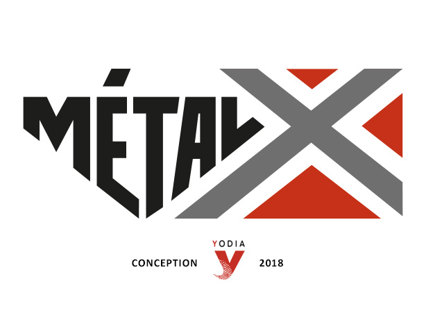 Conception du logo Métal X