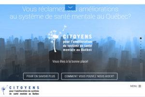 Site Citoyens pour l'amélioration du système de santé mentale au Québec