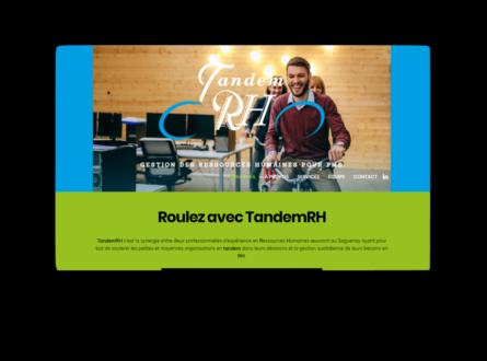 Client : TandemRH • Conception d'un logo et d'un site Web